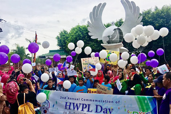 HWPL Day & Peace Walk in Mindanao, Philippines