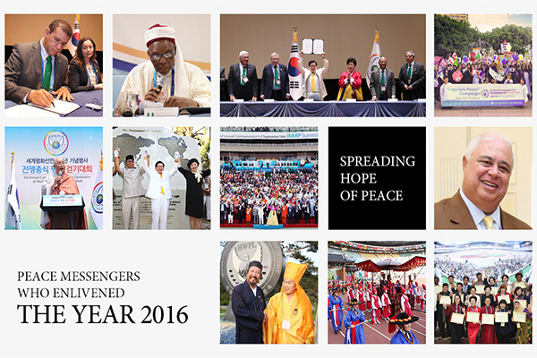 Peace messengers who enlivened the year 2016