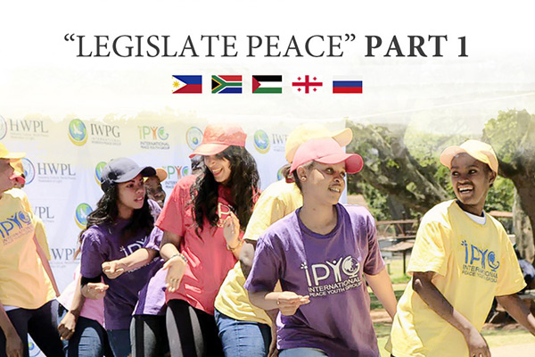 "We Stand for ""Legislate Peace"" Part 1"