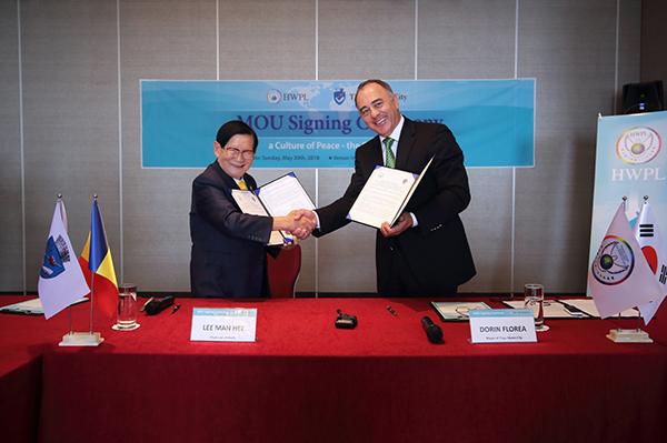 "International NGO HWPL signed MOU for ""Peace Cultu"