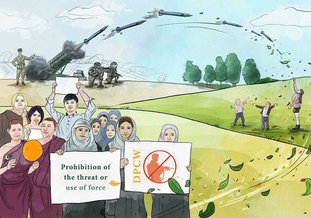 Article 1 - Prohibition of the threat or use of force